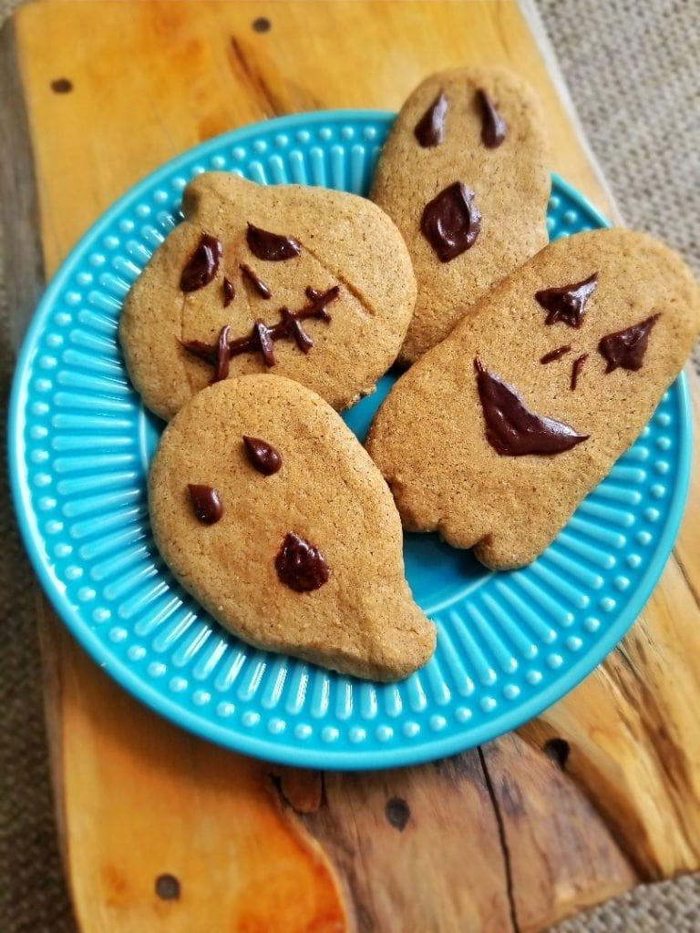 Cookies de Halloween sem glúten e lactose