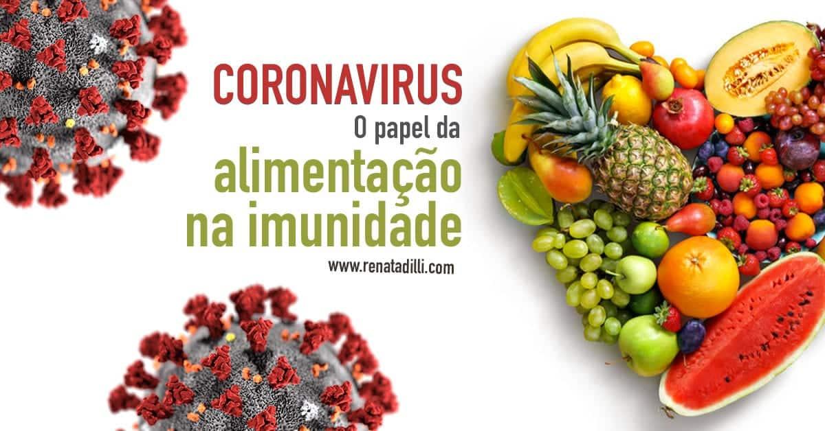 Coronavírus e alimentação