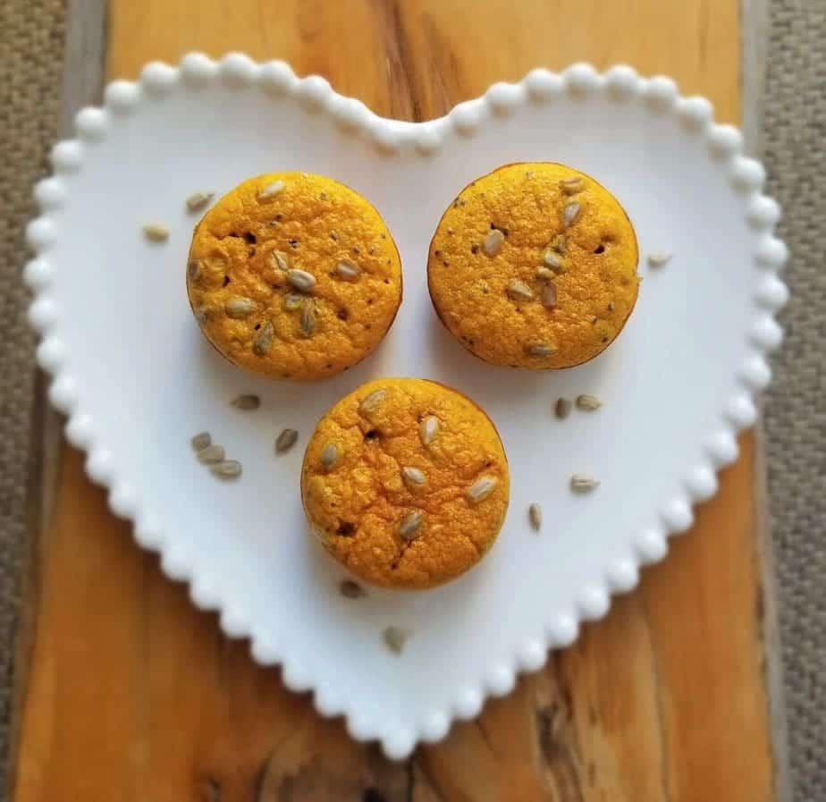 Muffin de abóbora com sementes